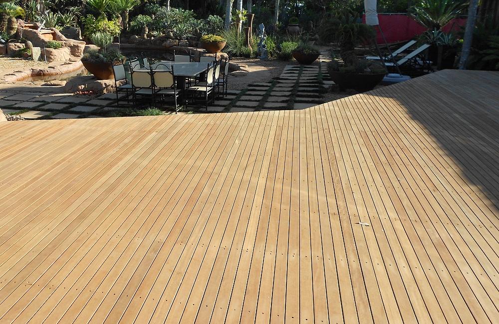 Pats timber decking timber deck building kzn building for Decking framework timber